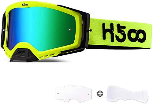 SGTTX Occhiali da motocross Anti-fog Anti-polvere Occhiali trasparenti per moto MTB Downhill Trail Dirt Jump Ciclismo Off Road Racing Occhiali MX con occhiali da moto a strappo
