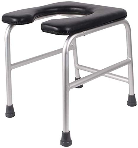 Wghz Commode Chair Foldable Commode Chair in Bathroom Portable Chest of Drawers Soft Padded Toilet for Pregnant Women Elderly Patients Stool (Black Blue)