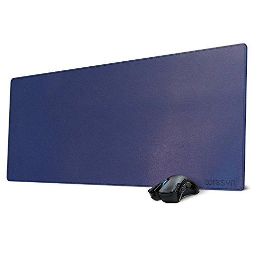 Zoresyn grote kunstmatige PU lederen muismat grote toetsenbord matten uitgebreide muismat 35.4
