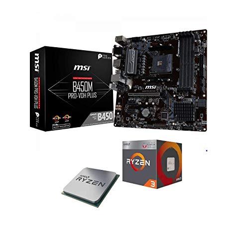 Memory PC Aufrüst-Kit AMD Ryzen 3 2200G AM4 QuadCore Summit Ridge 4X 3.6 GHz, 8 GB DDR4, MSI B450M Pro-VDH Max, komplett fertig montiert und getestet