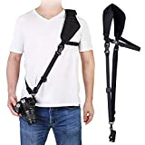 waka Camera Neck Strap with Quick Release, Safety Tether and Underarm Strap, Adjustable