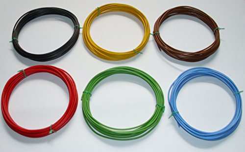 Kfz-Kabel Set 1,5mm² 1,50mm² 6 x 5m (0,60/m) Litze Flry Fahrzeugleitung