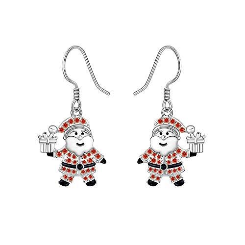 Christmas Santa Earrings for Girls Dangle St. Eve Festival Ornament Holiday Earring Hypoallergenic Earrings for Women Sensitive Ears Christmas Jewelry Gifts -  Designer Fabrics, K0150E