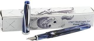 Noodler's Ink Standard Flex Fountain Pen with Twist-Fill Piston, Stainless Steel Nib, Medeival Lapis (17027)