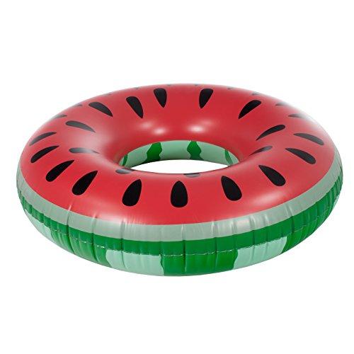 Smartfox Schwimmring Schwimmreifen Wassermelone Melone Schwimmhilfe Wasserring 100cm