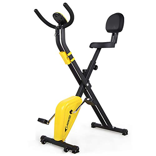 Tingeart Ultrasport Unisex F-Bike, Bicicleta De Ejercicio Profesional Ajustable con Pantalla LCD, SillíN Extra Confort, Altura Regulable, para Atletas Y Mayores, 70 * 41 * 110Cm B