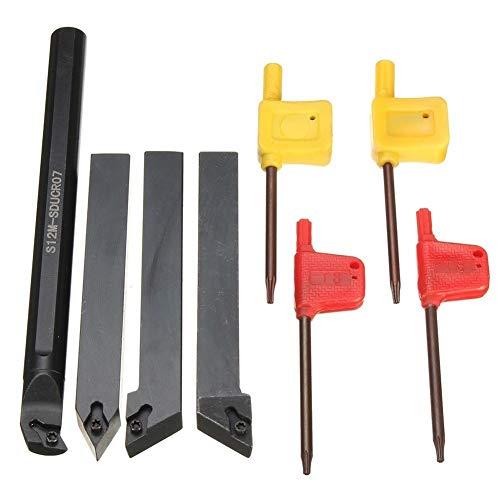 Conjunto 4 piezas 12 mm Torno inflexión soporte herramienta