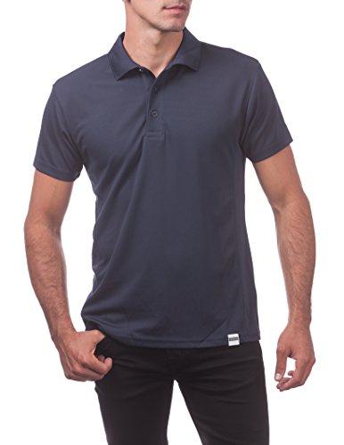 Pro Club Men's Performance DryPro Short Sleeve Polo Shirt, Navy, 5X-Large
