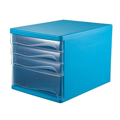 KANJJ-YU La presentación de confidencialidad del gabinete del cajón de escritorio Clasificador de datos de Office gaveta de almacenamiento Oficina de escritorio Organizador de cajones (Diseño: 4 capas