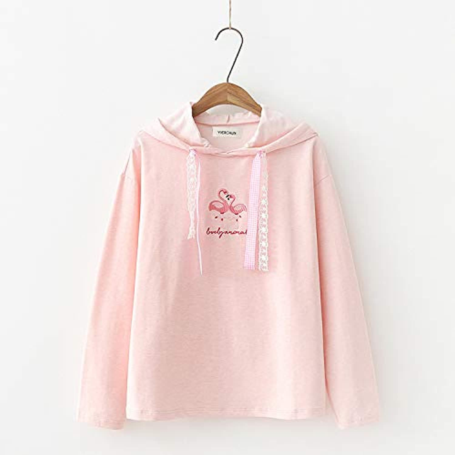 GSYDWY Top Cute Short Embroidered Hooded Sweater Female Loose Small Fresh Hoodie E0680