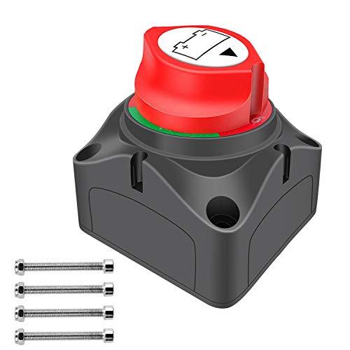 YGL Interruptor de Alimentación de Batería Principal Desconecte el Interruptor,Interruptor de Desconexión del Aislador de Batería de 12V/24V para Yate de Motocicleta Marina