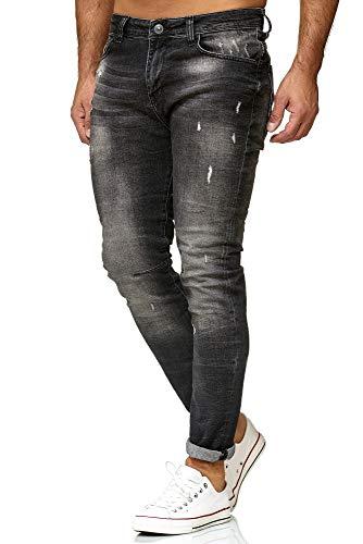 Red Bridge Herren Jeans Hose Slim-Fit Ripped Redemption Schwarz W31 L34