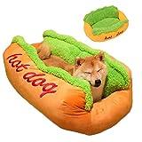 TTBD Forma Hot Dog Camas para Perros, Cama para Gatos Tumbona para Mascotas Perro De La Forma Perro del Amortiguador De La Cesta del Gato Cama Tumbona Cama Perrera,L 29.5cmx25.6x9.8