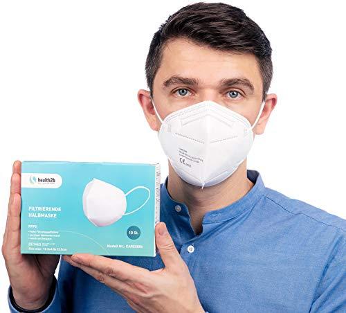 ViTho [10 Stück] Atmungsaktive Staubmaske | Atemschutzmaske | Staubschutzmaske | Mund-Nasen-Schutz gegen Pollen, Abgase, Luftverschmutzung, Staub