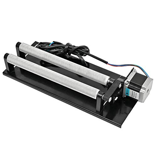 Rotary Axis Attachment for Laser Engraver Cutter (Upgraded 2020 Model) by OMTech, Barrel Rolling Cylinder Surface Rotation Platform for Laser Engraving Machine, 360 Degree Rotating Axis