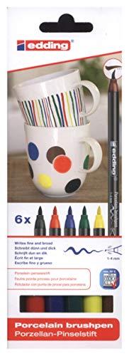 edding 4200-6-S-000 - Estuche con 6 rotuladores para porcelana, multicolor