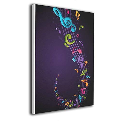 Paint C Musiknoten-Krawatte, Wandkunst, kein Rahmen, fertig zum Aufhängen, Wanddekoration, 30,5 x 40,6 cm
