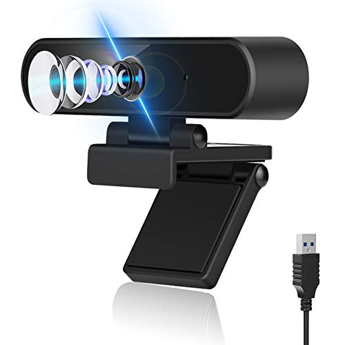 Webcam with Microphone, Computer Camera,1080p HD Webcam with Privacy Cover and Tripod, Web Camera USB Play and Plug, Streaming Webcam for Laptop Desktop,for YouTube Skype Live Video Conferencing