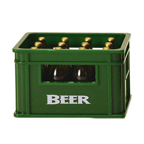 Bierkiste Flaschenöffner mit Magnet in grün - Bierkasten Bieröffner Kapselheber