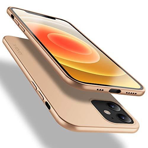X-level für iPhone 12 Hülle, für iPhone 12 Pro Hülle, [Guardian Serie] Soft Flex TPU Hülle Superdünn Handyhülle Silikon Bumper Cover Schutz Tasche Schutzhülle für iPhone 12/ iPhone 12 Pro - Gold