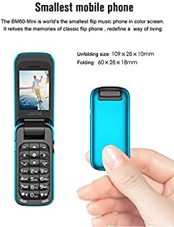 Cellphones - New BM60 Mini Flip Phone Popular In Chinese and Foreign Language Bluetooth Companion Single Card for Students...