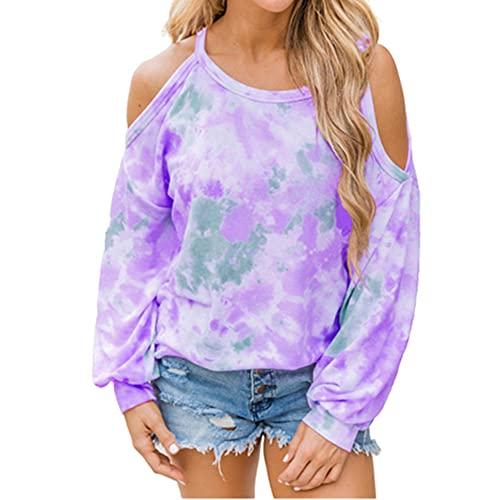N\P Oversize sin tirantes de las señoras tie dye camiseta casual de manga larga suelta tamaño grande