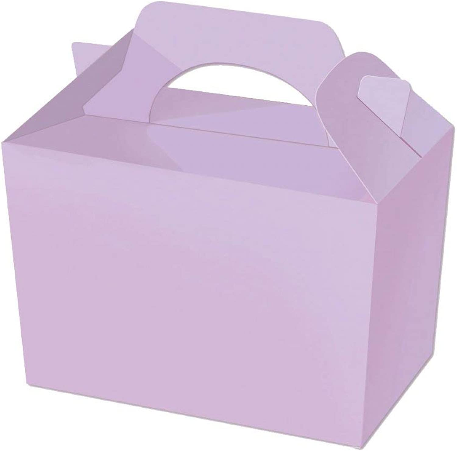 100 purplec Party Boxes Solid Colour Plain Cardboard Lunch Food Loot Treat Box