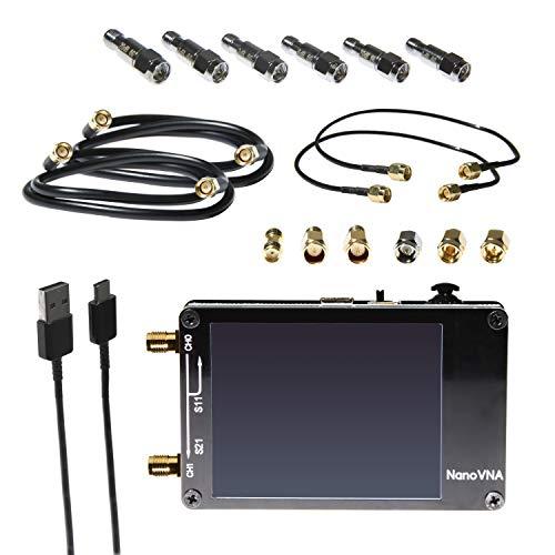 NanoVNA Bundle - Kit de Analizador de Red Vectorial de Hardware Abierto de un Distribuidor Autorizado. 50kHz-900MHz+ VNA Portátil con Blindaje EMI, Kit de Calibración SOLT, kit Atenuador de 6pc y Más