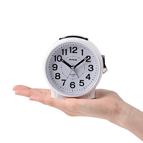 ノア精密 ノア精密 ノア精密 T-729-WH-Z ホワイト MAG 目覚まし時計(ブルーブライト)
