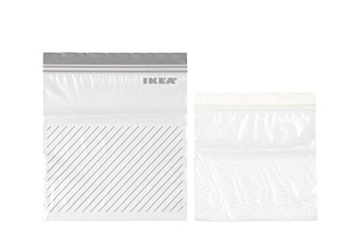 ☆2017NEW☆ IKEA ISTAD プラスチック袋 グレー/ホワイト 各25P
