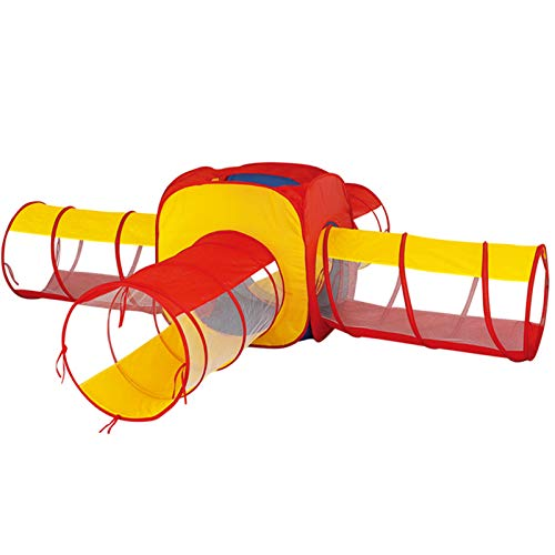 LINGLING Tienda de Campaña Infantil con Tunel para Niños,Tiendas de Campaña para Niños,Jugar Tienda para Interiores/Exteriores Playhouse Regalos de cumpleaños/Navidad