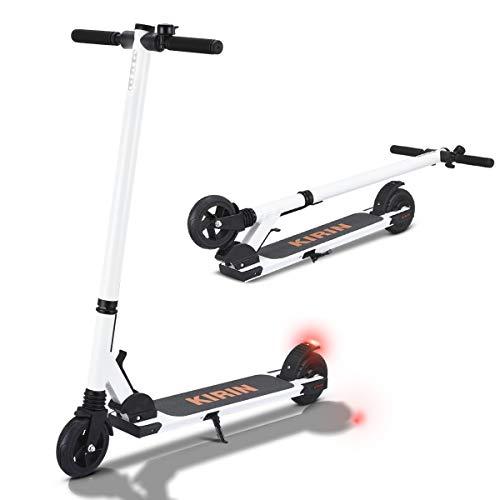 Monopattino Elettrico Pieghevole E Scooter Elettrico 15km Di Autonomia, Monopattini Elettrici per Bambini Adulti e Adolescente (B ES01 mini-bianco)