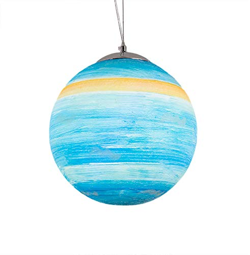 Creative Universe Planet Lámpara Colgante Sun Planet Lámparas Habitación de Los Niños Dormitorio Guardería Habitación de Los Niños Lámpara de Suspensión(Urano,20 CM)