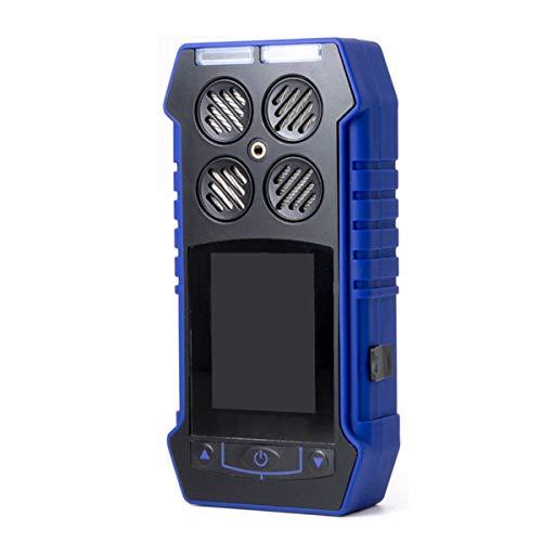 ZRHJ 4-in-1-Smart-Gasdetektor - tragbares tragbares EX O2 H2S-CO-Messgerät mit LCD-Anzeige Digital & Datenüberwachungsmessgerät mit Tragetasche
