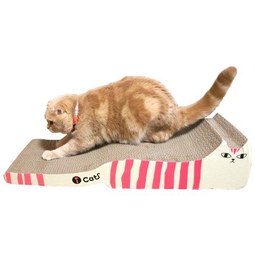 iCat アイキャット オリジナル つめとぎ しまネコロング チャコールサーモン 猫 つめとぎ