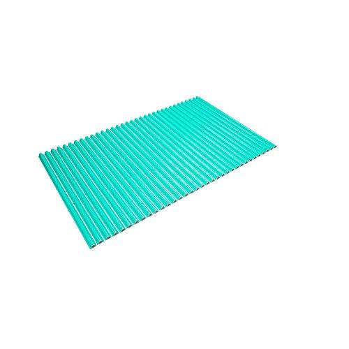 東プレ シャッター式風呂ふた 波型 カラーウェーブ 70×111cm グリーン M11