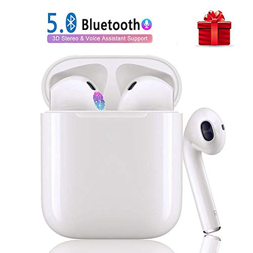 Bluetooth Kopfhörer i12 TWS 3D Stereo Sound Touch Control Noise Reduction 24 Stunden Spielzeit IPX7 Wasserdicht Pop-Ups Auto Pairing Echte Kabellose Kopfhörer für Android/iOS Geräte Weiß