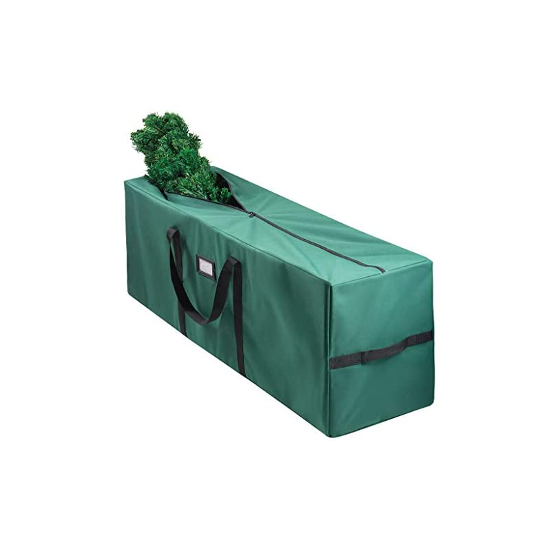 silk flower arrangements christmas tree bag for christmas tree storage bag (canvas) - xmas tree bag fits 8 ft artificial dissembled tree - heavy christmas tree tote, reinforced handles- christmas tree storage tote waterproof