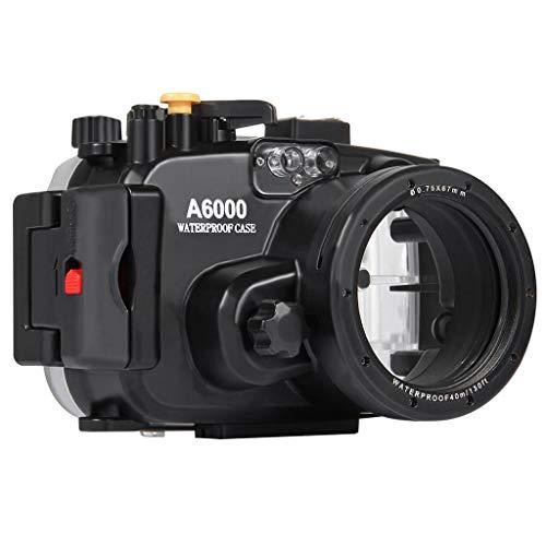 HSKB Camera Wasserdicht Hülle, Schutzhülle Gehäuse Wasserfeste Protective Cove Shell Tauchen 40M Unterwasserkamera Tasche Waterproof Case für Sony A6000 Action Camera