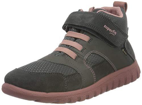 Superfit, Baby - Mädchen, Lauflernschuh, Sneaker, GRAU/ROSA 2000, 33 EU