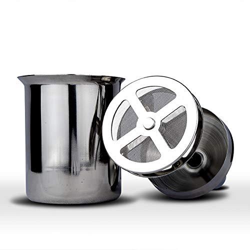 PGODYQ Espumador de leche, espumador de leche de mano de acero inoxidable, jarra de espuma manual para capuchones y café latte
