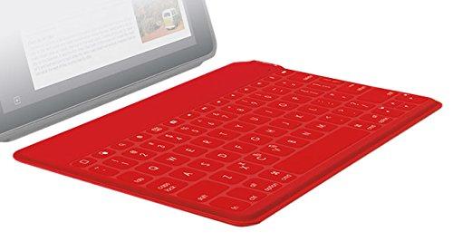 Logitech Keys-To-Go - Tastaturen für Mobilgeräte (Kabellos, Bluetooth, Apple, iPad, iPhone, Apple TV, CHE, Rot)