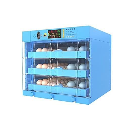 YAWEDA Incubadora Automática de 64-192 Huevos con Iluminación LED Pantalla Digital y Control Eficiente e Inteligente de Temperatura y Humedad Fácil Manipulación Rotación Automática