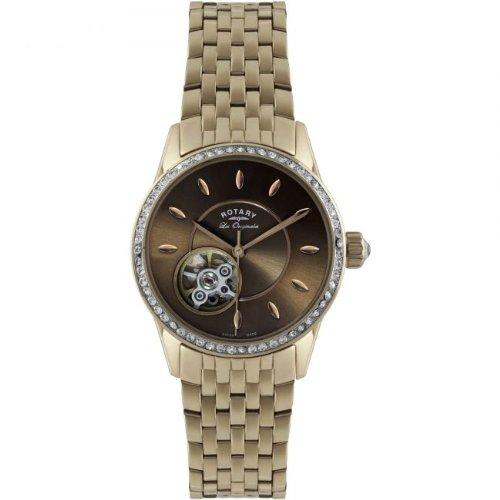 Rotary Reloj Esqueleto para Mujer de Automático con Correa en Acero Inoxidable LB90515/16