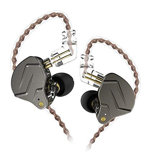 KZ ZSN PRO Upgrade Version Hybrid Technology Professional in Ear Earphones 3.5mm Headphones (Standard, Gray)