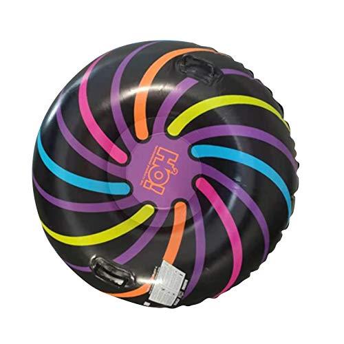 Yoouo Luge Bouée Gonflable pour Les Enfants et Les Adultes, Heavy Duty Gonflable Toboggan avec Poignées, Anti-Rayures, Idéal pour Les Loisirs en Plein Air en Hiver