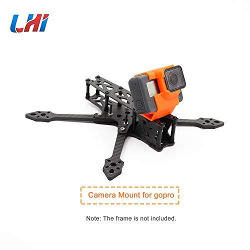 LHI Adatto per GoPro Session Camera Mount 5/6/7 TPU Multirotore FPV Racing Drone Altamente Resistente all'Usura (Arancione)