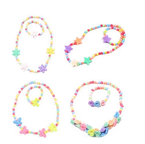TOYMYTOY Kinder Schmuck Set Halskette und Armband 4 Set