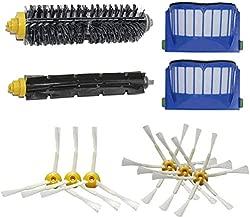 Heaviesk Pr/áctico 3pcs Robots de limpieza de esquinas Cepillo de repuesto 3pcs Filtro m/ás limpio 3pcs Kit de cepillos rodantes para Roomba 620 630 650 660