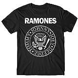LaMAGLIERIA Camiseta Hombre - Ramones t-Shirt Punk Rock Band 100% algodón, M, Negro